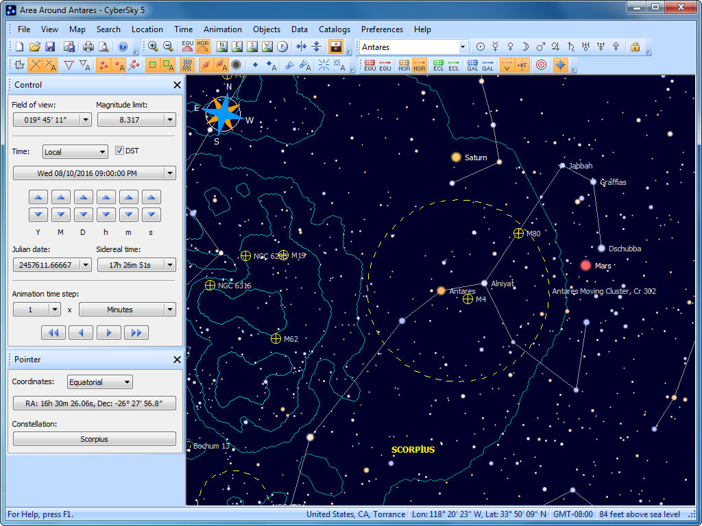 Click to view CyberSky 5.1.2 screenshot